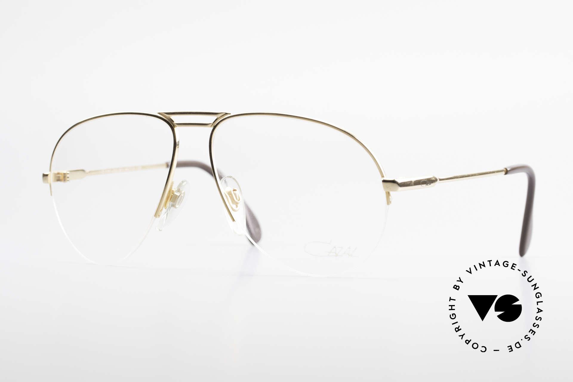 Cazal 726 West Germany Aviator Glasses, legendary 80's Cazal aviator eyeglass-frame, Made for Men