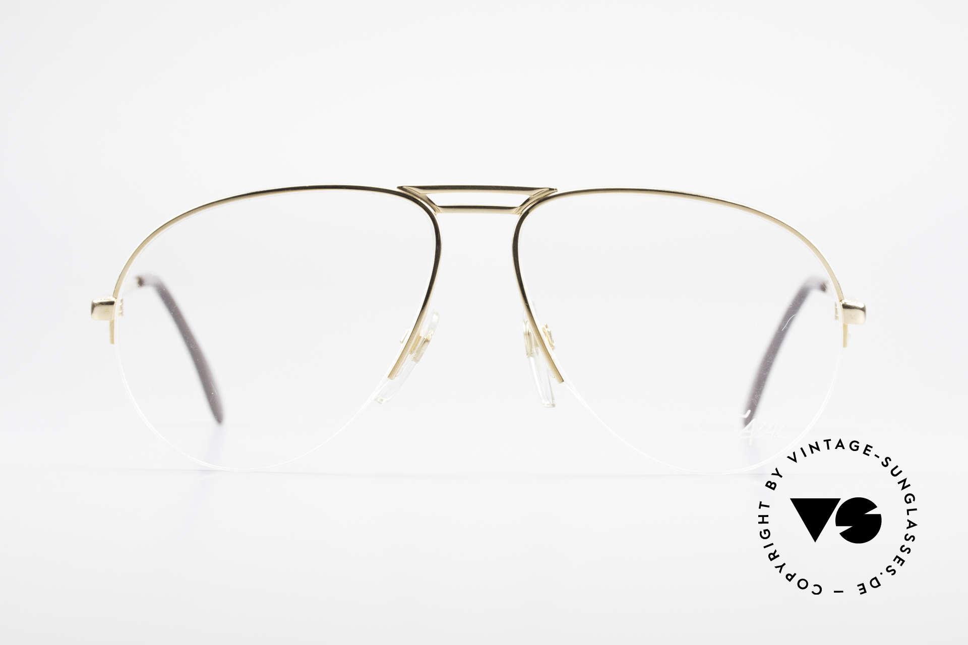Cazal 726 West Germany Aviator Glasses, vintage designer eyeglasses by Cari Zalloni, Made for Men