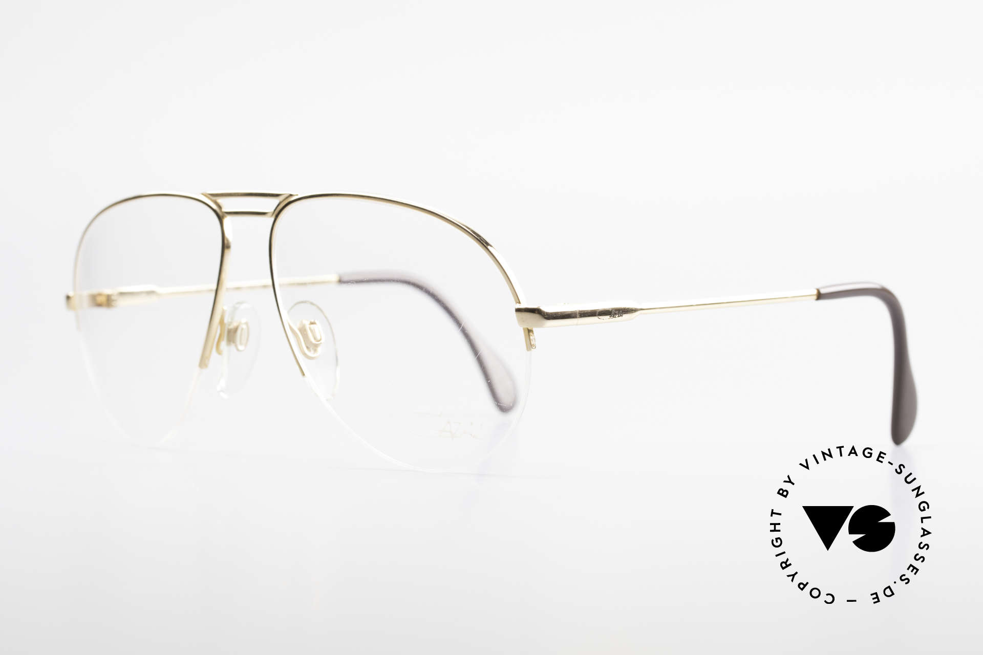Cazal 726 West Germany Aviator Glasses, half rimless frame (1. class wearing comfort), Made for Men