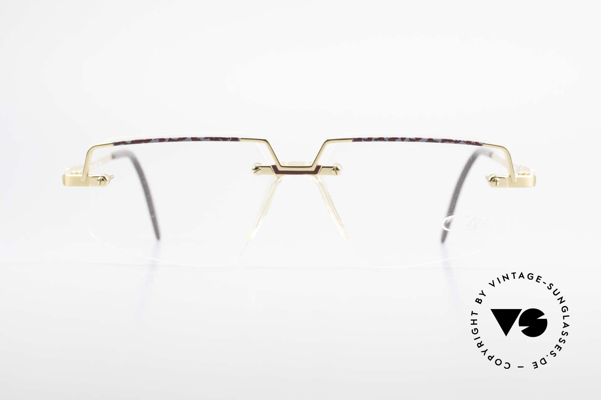 Cazal 742 Vintage Cazal Frame Rimless, interesting combination of lenses and frame, Made for Men