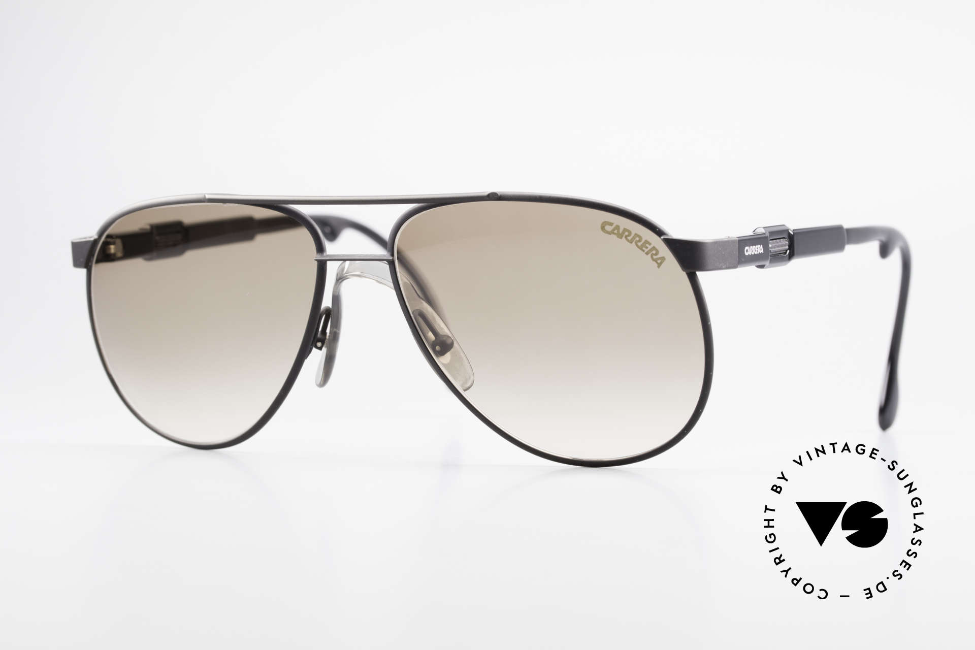 Carrera 5348 Vario Sports Sunglasses 80's, brilliant vintage Carrera 80s sunglasses, size 56°15, Made for Men and Women
