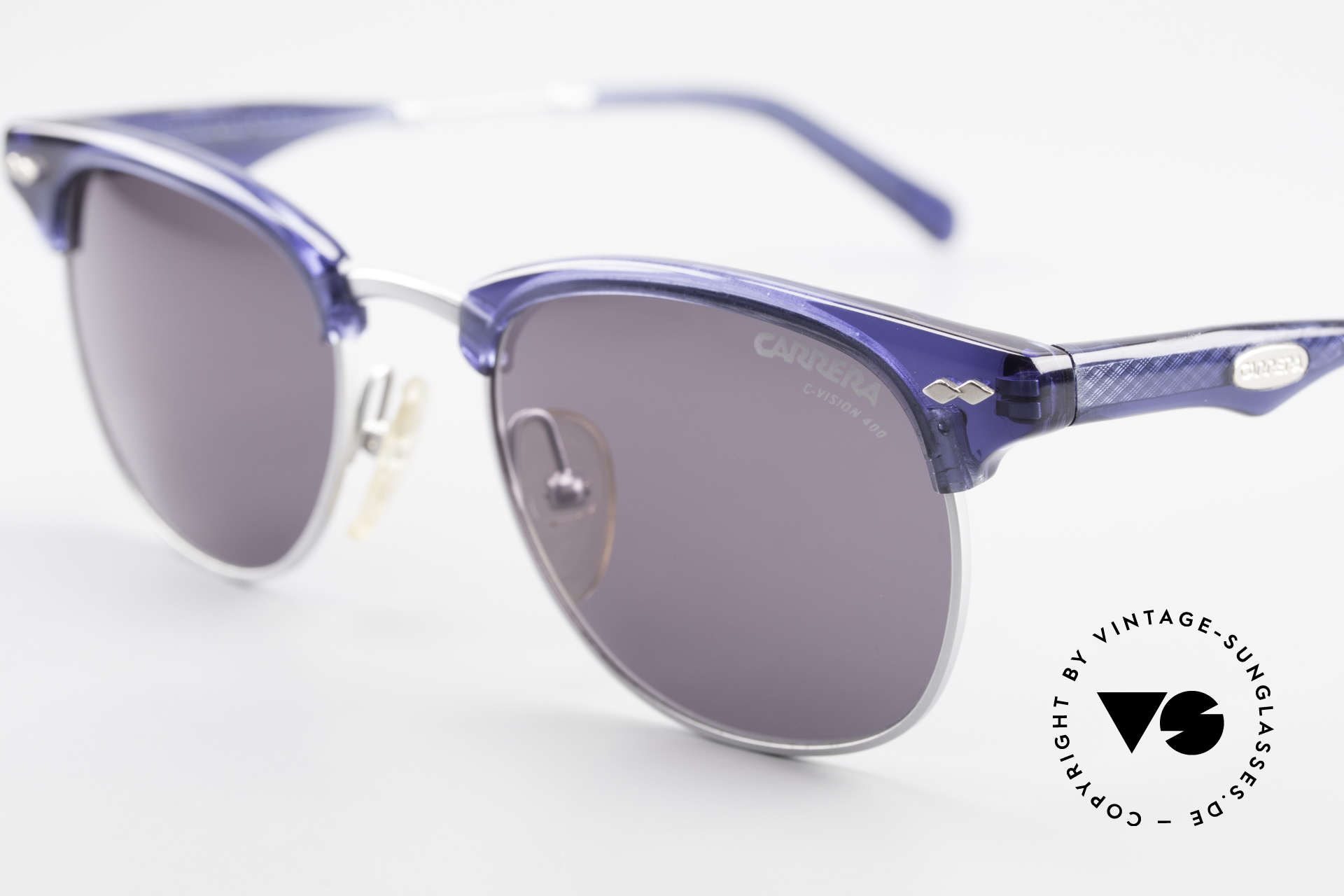 Carrera 5324 Vintage Panto Sunglasses 90s, Carrera C-VISION 400 lenses (100% UV protection), Made for Men