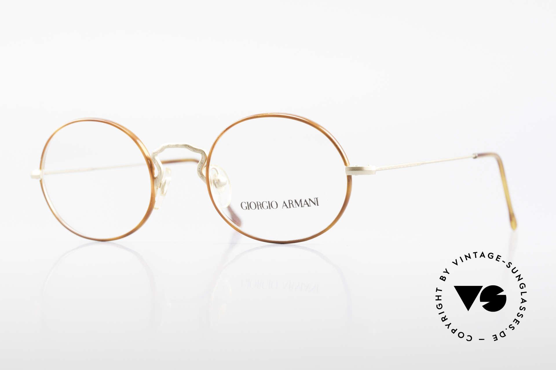 Giorgio Armani 247 90's Oval Eyeglasses No Retro, vintage designer eyeglasses by Giorgio Armani, Italy, Made for Men and Women