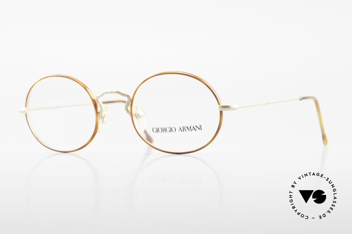 Giorgio Armani 247 90's Oval Eyeglasses No Retro, vintage designer eyeglasses by Giorgio Armani, Italy, Made for Men and Women