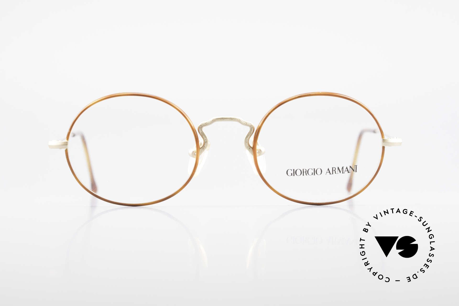Giorgio Armani 247 90's Oval Eyeglasses No Retro, small oval-round frame design' - a timeless classic!, Made for Men and Women