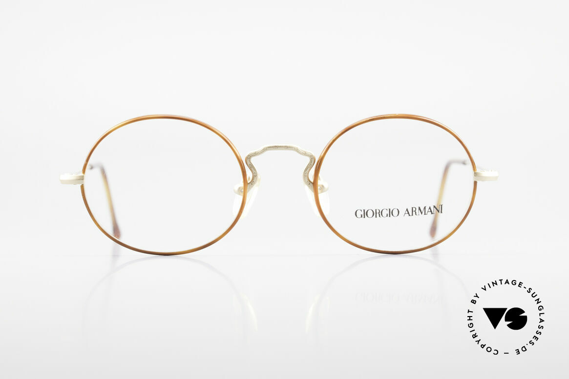 Giorgio Armani 247 90's Oval Eyeglasses No Retro, small oval-round frame design' - a timeless classic!, Made for Men and Women
