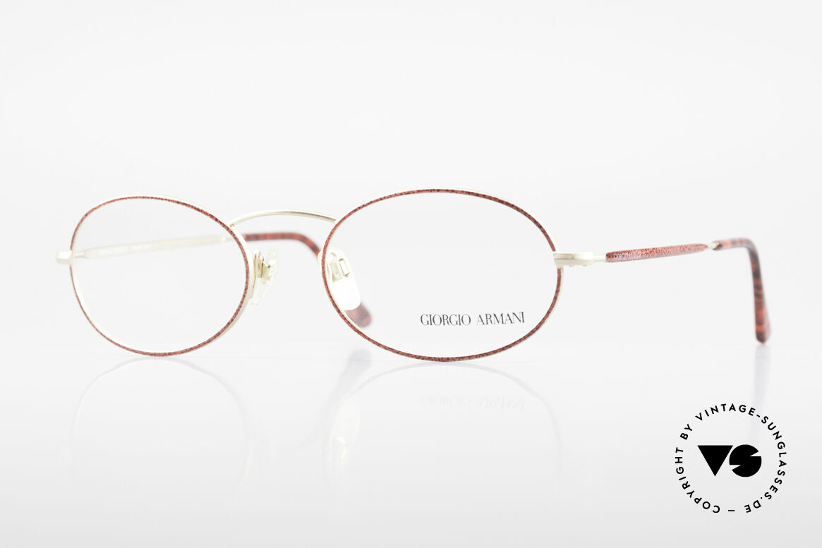 Giorgio Armani 125 Oval 80's Vintage Glasses, vintage designer eyeglasses by GIORGIO ARMANI, Made for Women