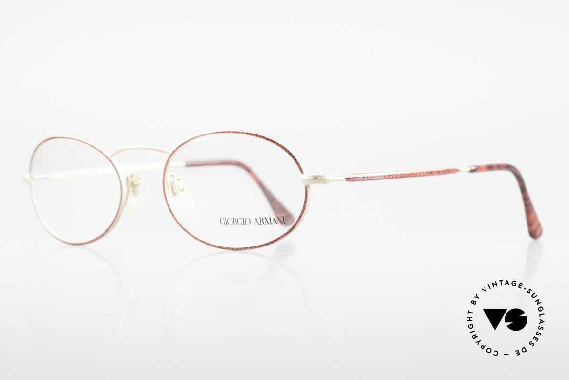 Giorgio Armani 125 Oval 80's Vintage Glasses, sober, timeless style: suitable for many occasions, Made for Women