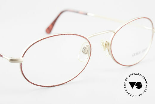 Giorgio Armani 125 Oval 80's Vintage Glasses, frame fits optical lenses or sun lenses optionally, Made for Women