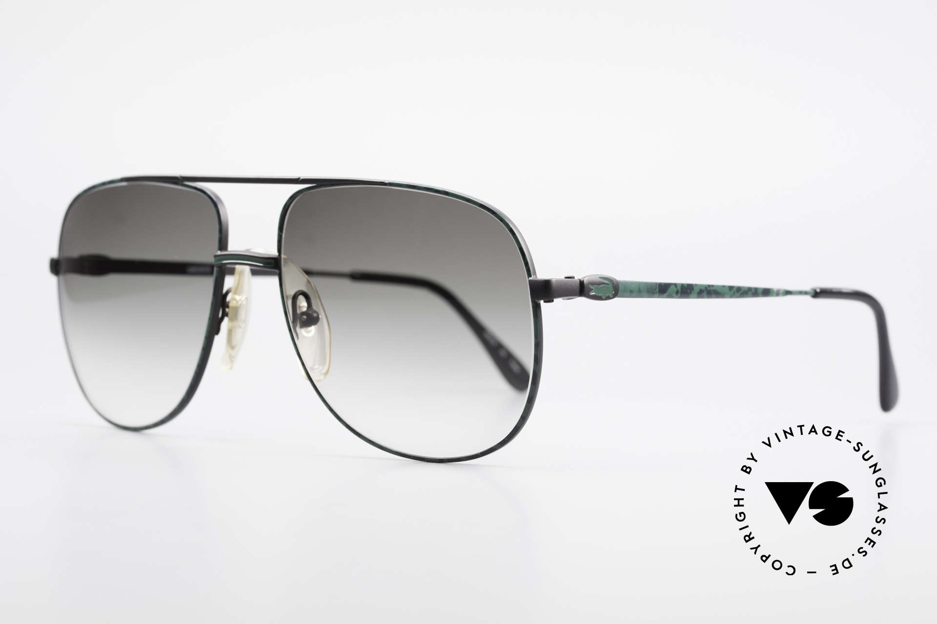 Lacoste 101 Sporty Aviator Sunglasses XL, this pair comes from the 80's with a terrific frame finish, Made for Men