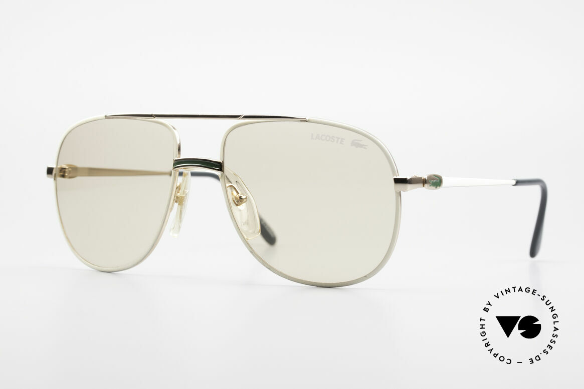 Lacoste 101 Lacoste Changeable Lenses, vintage Lacoste 101 sunglasses from the 1980's / 1990's, Made for Men