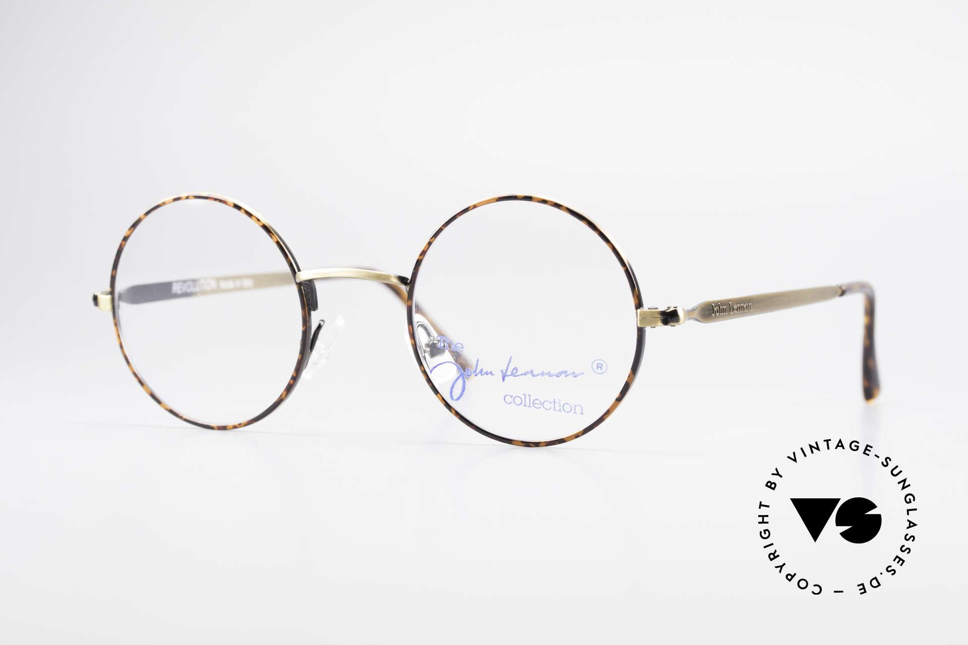 John Lennon - Revolution Small Round Vintage Glasses, original 'JOHN LENNON COLLECTION' eyeglasses, Made for Men and Women