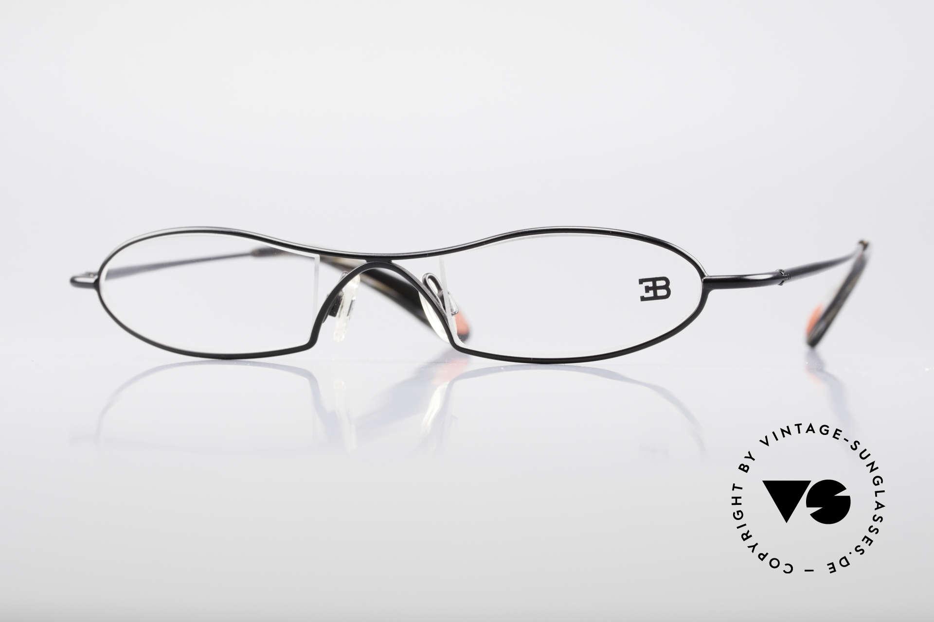 Bugatti 347 Odotype Small Men's Designer Frame, original BUGATTI high-tech eyeglass-frame, Made for Men