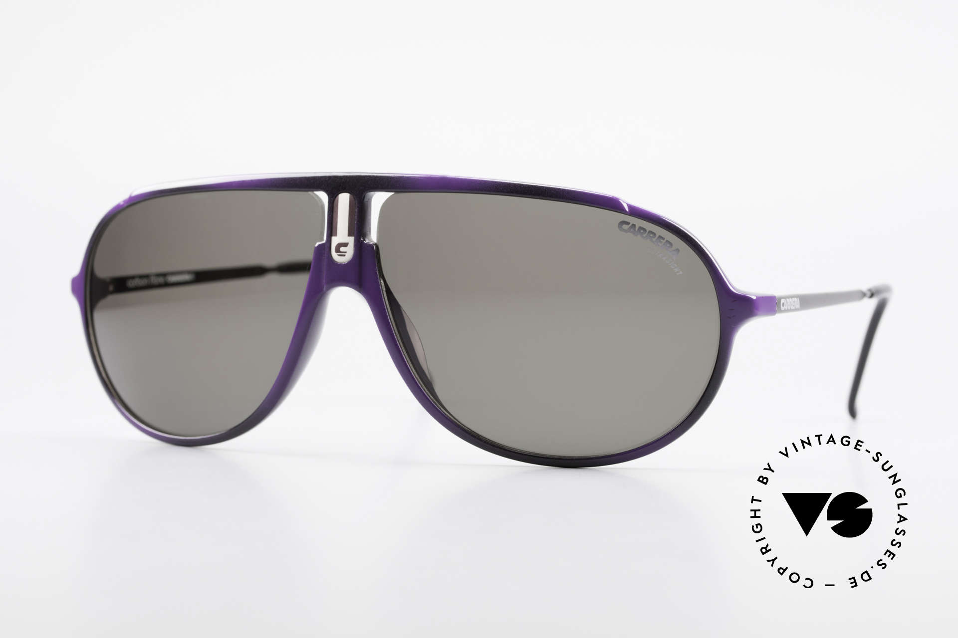 Carrera 5467 Carbon Fibre Shades Vintage, high-end vintage Carrera sunglasses of the 80's, Made for Men
