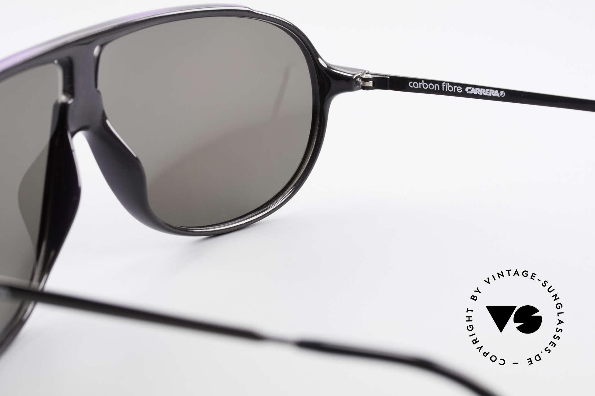 Carrera 5467 Carbon Fibre Shades Vintage, NO retro sunglasses but a unique and old original, Made for Men