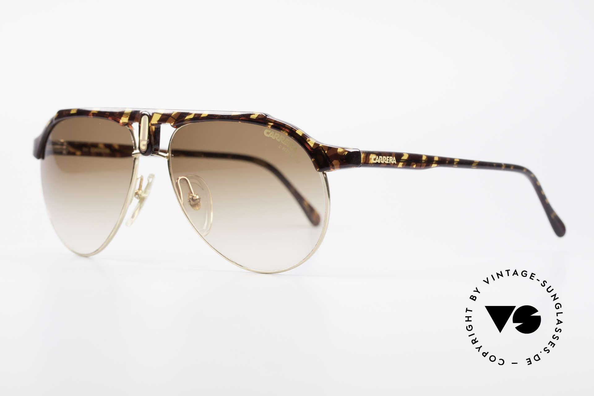 Carrera 5478 Rare Vintage Shades Aviator, brown-gradient CARRERA C-VISION sun lenses, Made for Men and Women