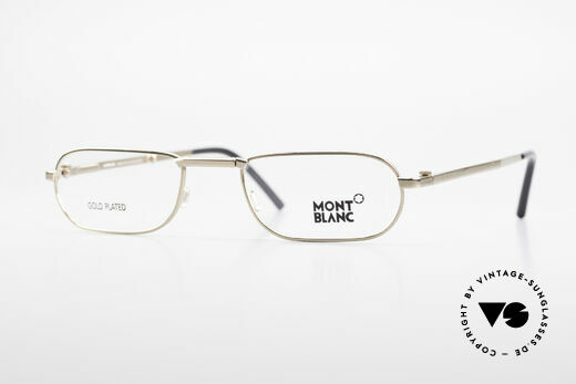 Montblanc MB30 Folding Gold Plated Luxury Eyeglasses Details