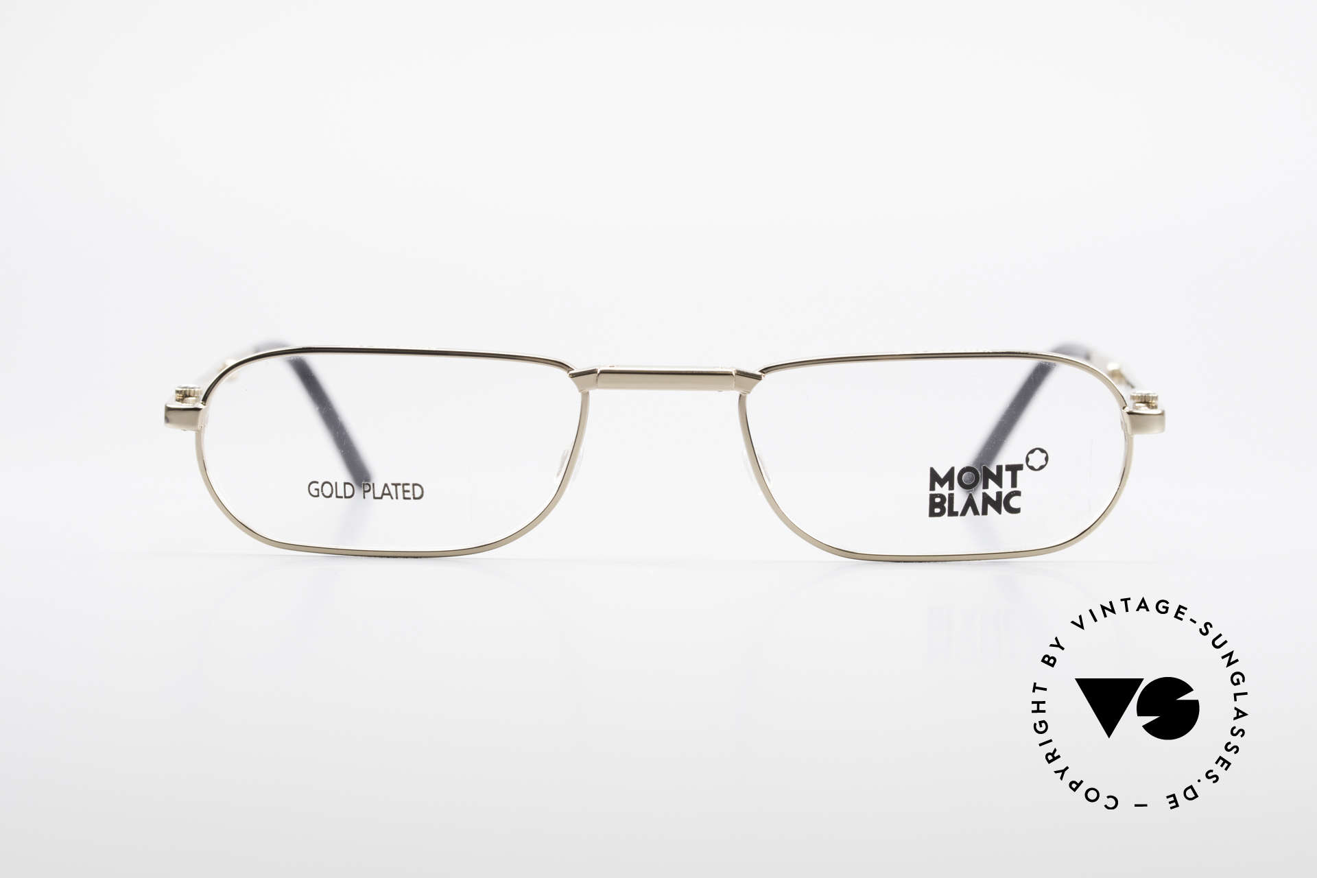Montblanc MB30 Folding Gold Plated Luxury Eyeglasses, best quality (gold-plated) & flexible spring hinges, Made for Men