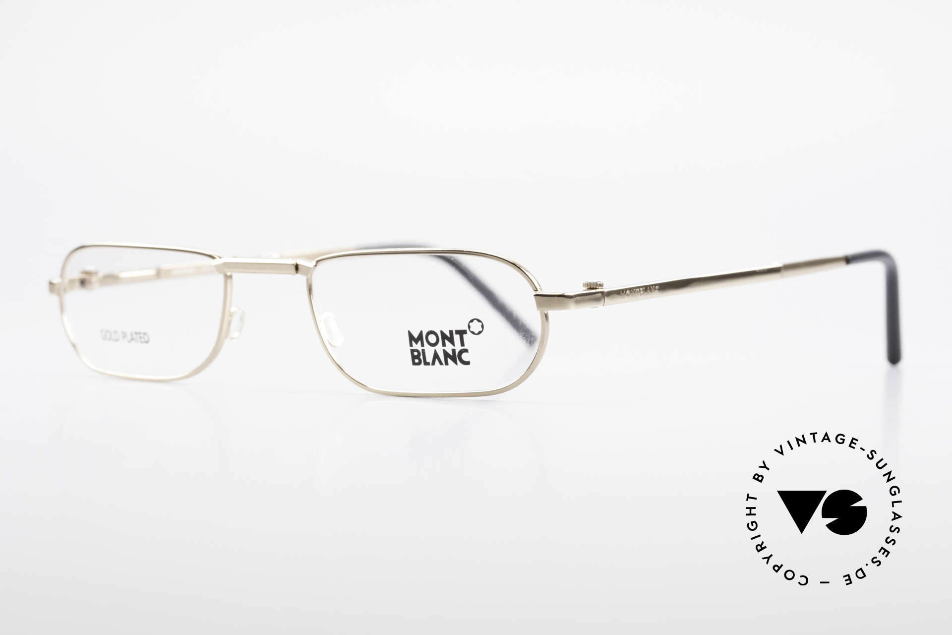 Montblanc MB30 Folding Gold Plated Luxury Eyeglasses, lightweight (18 gram only), very pleasant to wear!, Made for Men