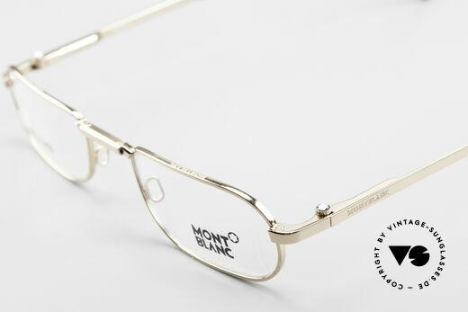 Montblanc MB30 Folding Gold Plated Luxury Eyeglasses