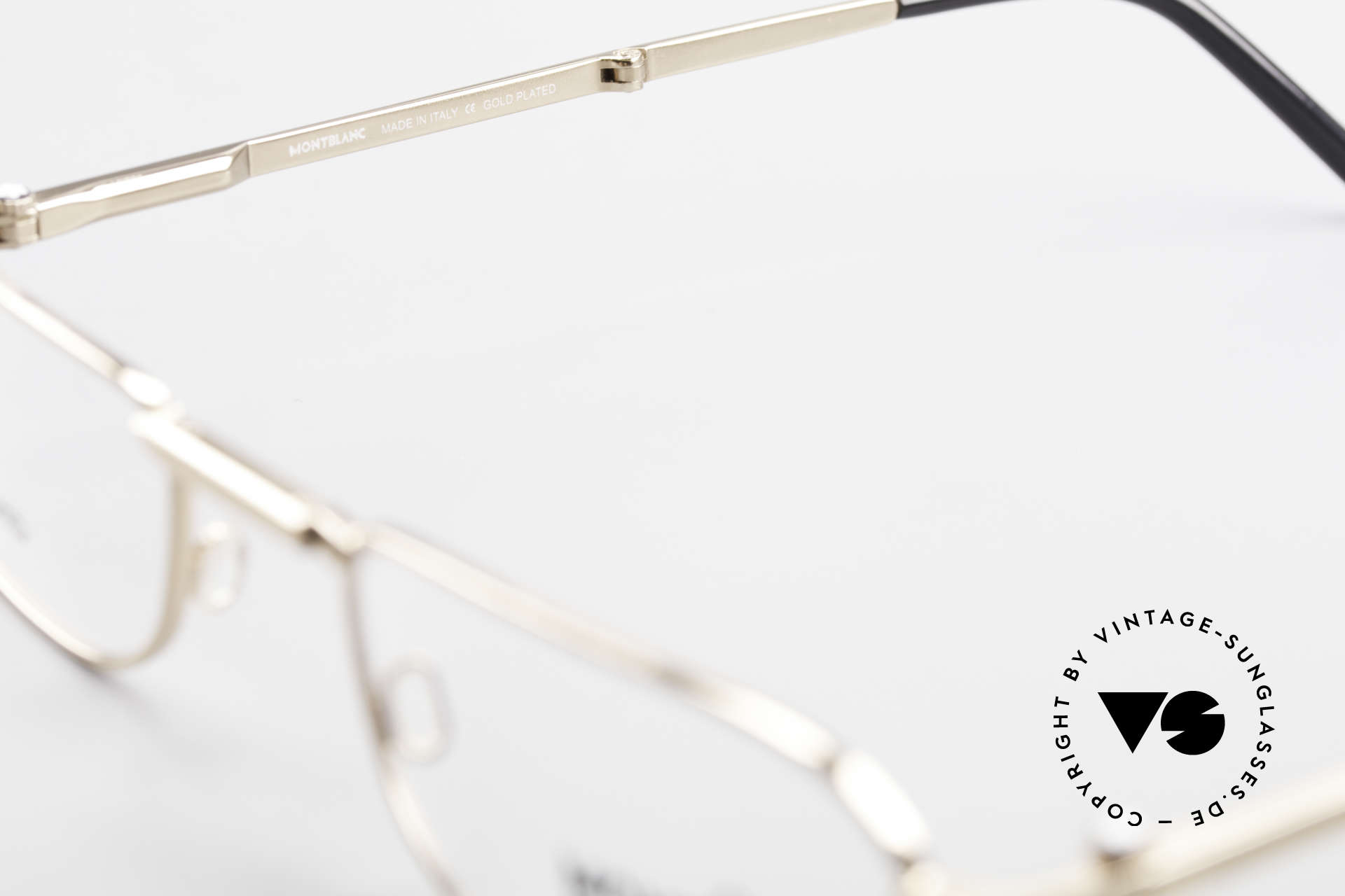 Montblanc MB30 Folding Gold Plated Luxury Eyeglasses, NO RETRO glasses, but an old ORIGINAL from 1999, Made for Men