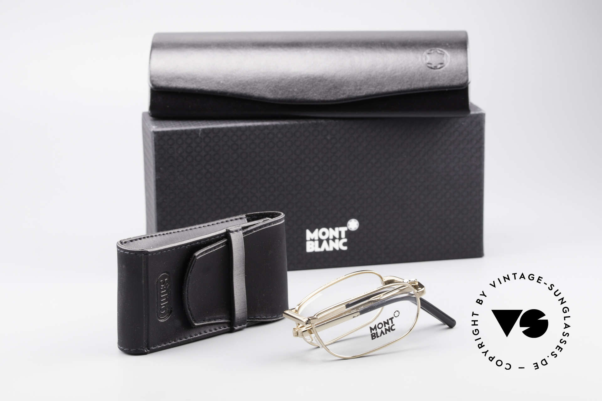 Montblanc MB30 Folding Gold Plated Luxury Eyeglasses, Size: small, Made for Men