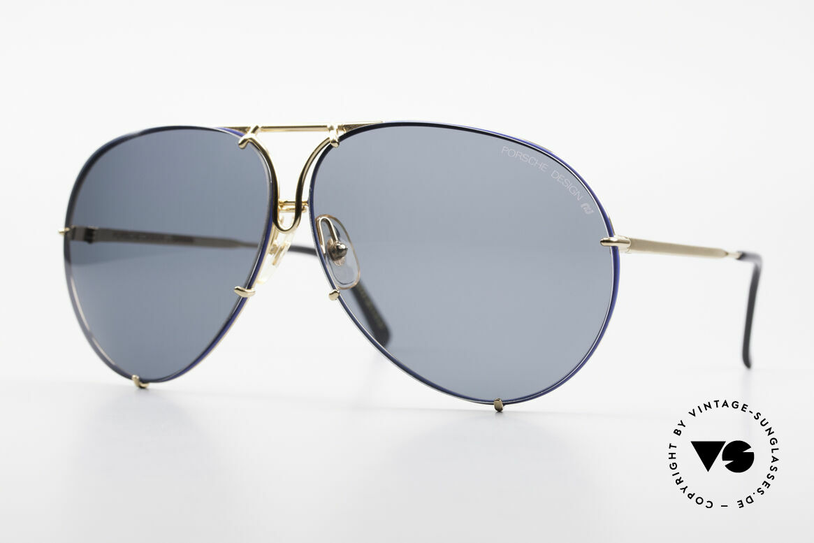 Porsche 5621 XL 80's Aviator Shades Limited, LIMITED EDITION: col. code 55 GOLD-PLATED / BLUE, Made for Men
