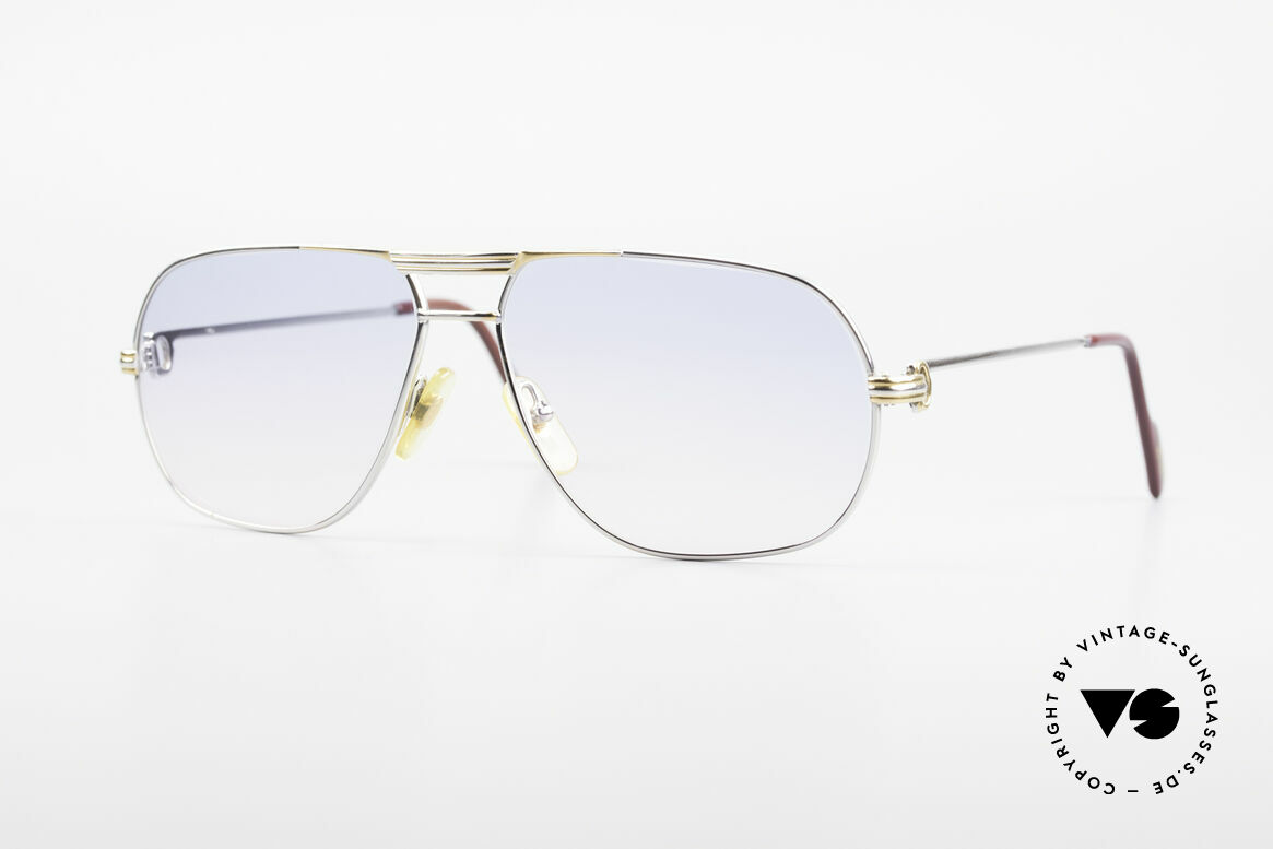Cartier Tank - M Platinum Finish Baby Blue Pink, orig. Cartier shades from 1988; MEDIUM size 59°14, 130, Made for Men