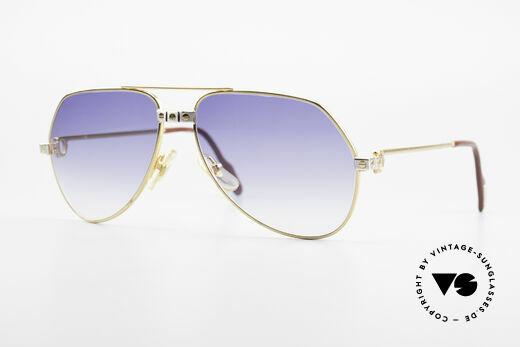 Cartier Vendome Santos - S Rare 80's Luxury Sunglasses Details