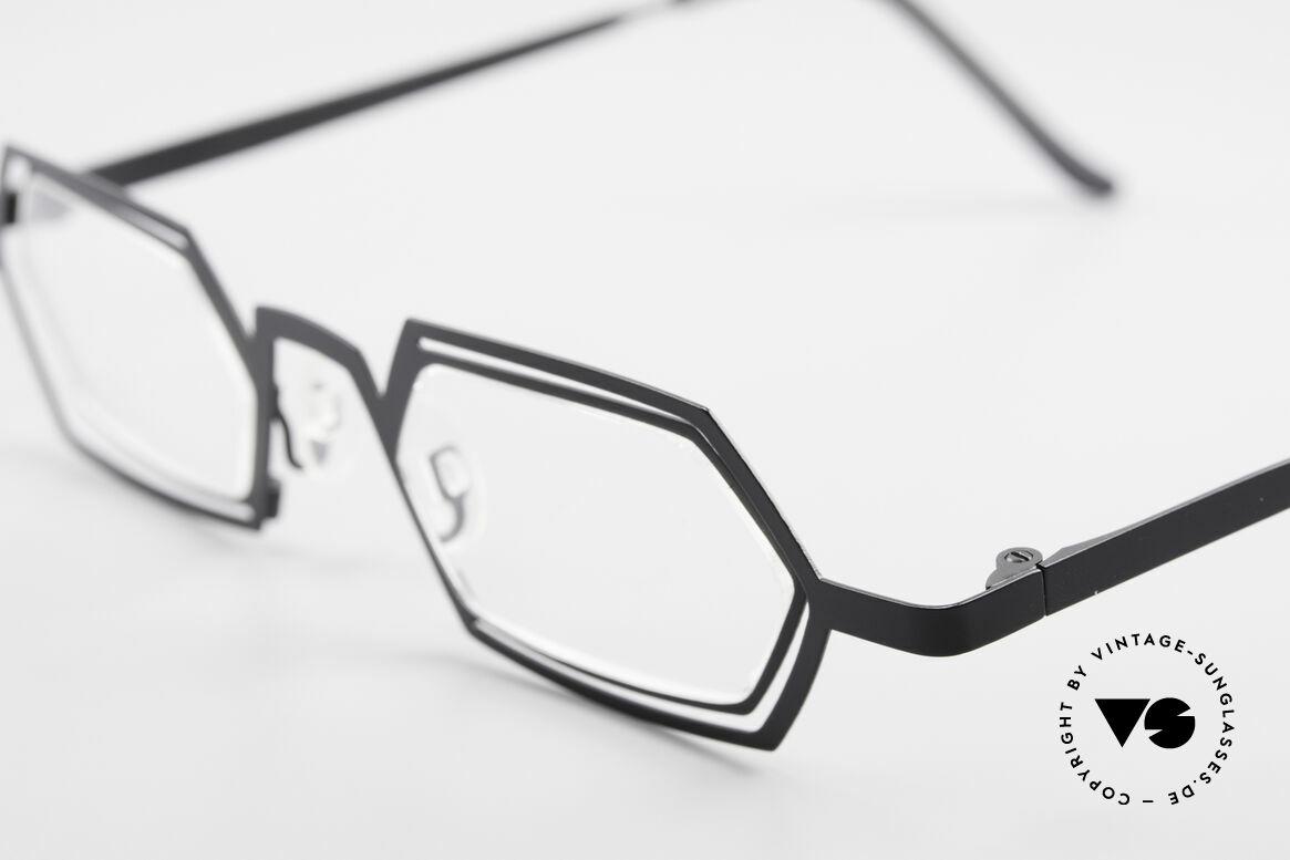 Theo Belgium Reflexs 90's Eyeglasses No Retro Frame, very unique 'retro' eyeglass-frame from the mid 1990's, Made for Men