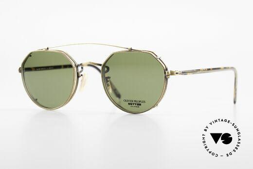 Oliver Peoples 43TAG Designer Glasses With Clip On Details