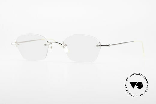 Oliver Peoples OP593 Rimless Designer Glasses 90's Details