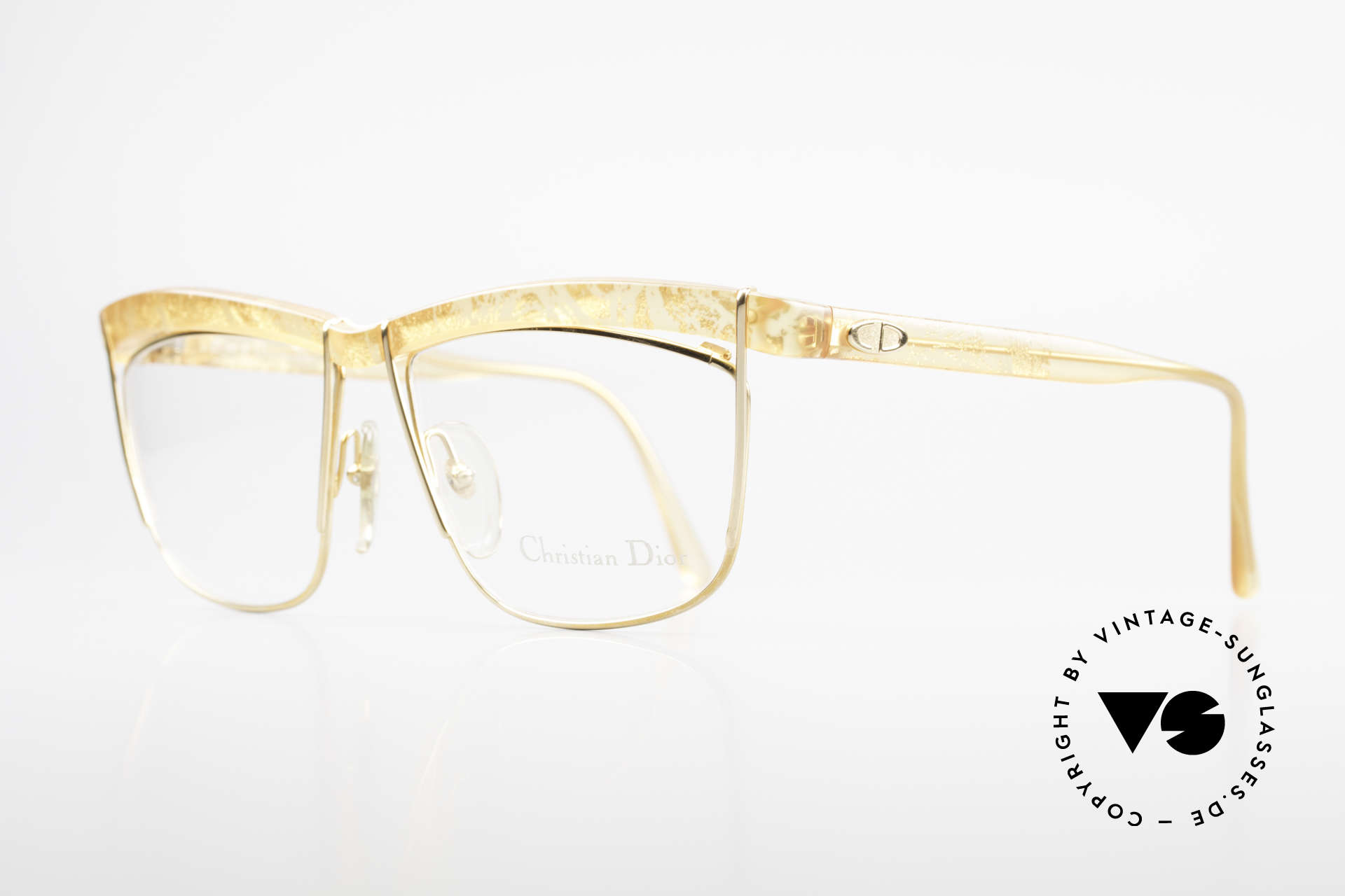 Christian Dior 2552 90's Designer Frame Ladies, brilliant combination of shape/pattern/materials, Made for Women
