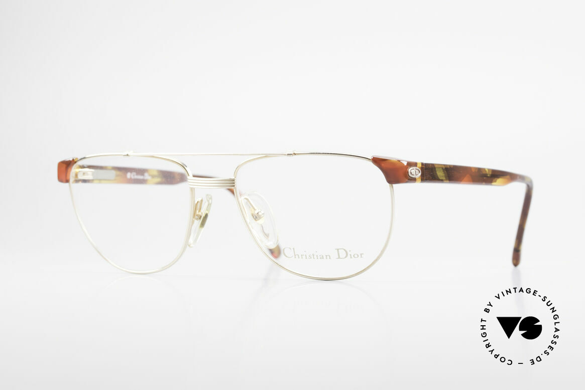 Christian Dior 2722 90's Designer Frame Unisex, classic 'combi glasses' by C. Dior from the 1990's, Made for Men and Women