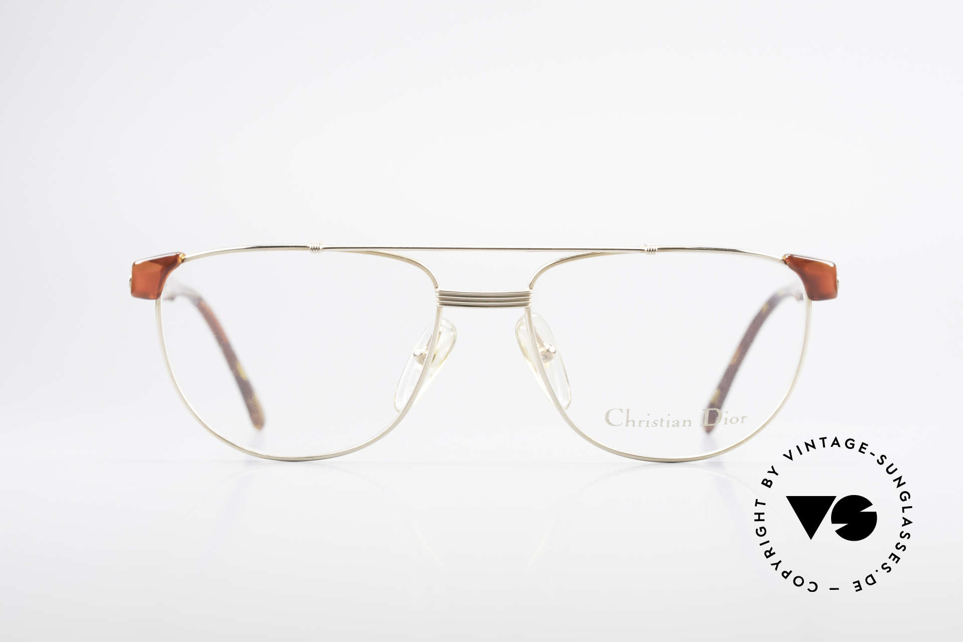 Christian Dior 2722 90's Designer Frame Unisex, combination of metal front and plastic temples, Made for Men and Women
