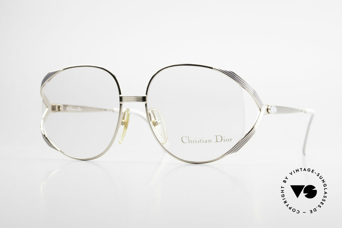 Christian Dior 2387 Ladies Vintage Frame Rare, flashy Dior designer eyeglass-frame from 1989, Made for Women