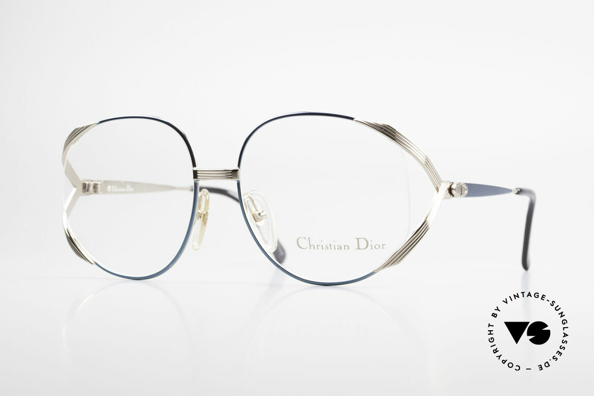 Christian Dior 2387 Ladies Vintage Frame Rarity, flashy Dior designer eyeglass-frame from 1989, Made for Women