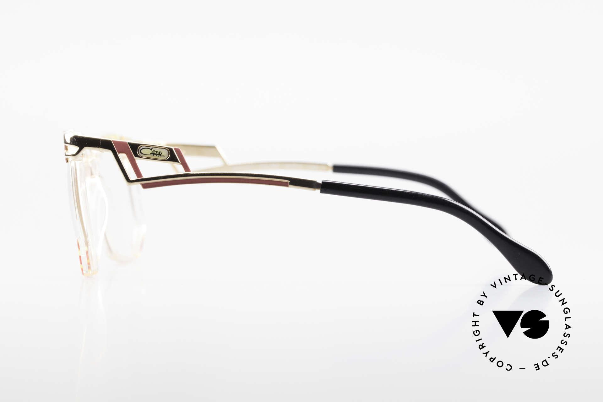 Cazal 351 Original Vintage Cazal HipHop, the Cazal demo lenses can be replaced optionally, Made for Women