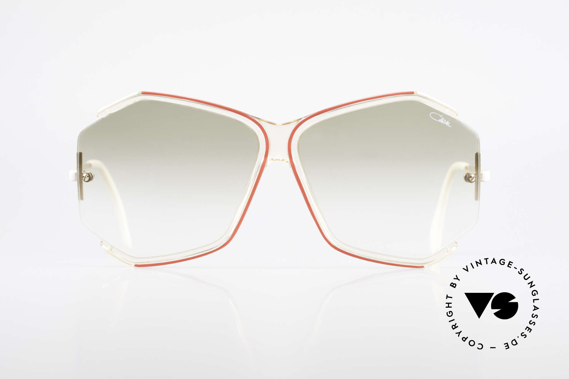 Cazal 852 Vintage 80's Sunglasses XXL, enchanting filigree frame design with classic colors, Made for Women