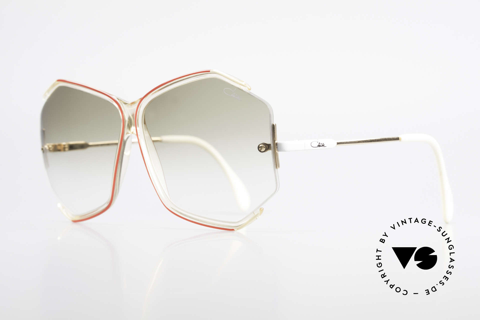Cazal 852 Vintage 80's Sunglasses XXL, subtly sophisticated (a true masterpiece by CAZAL), Made for Women