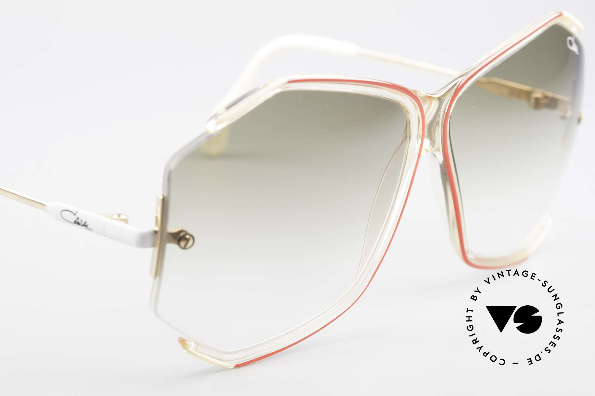 Cazal 852 Vintage 80's Sunglasses XXL, NO RETRO fashion, but a unique original from 1986!, Made for Women