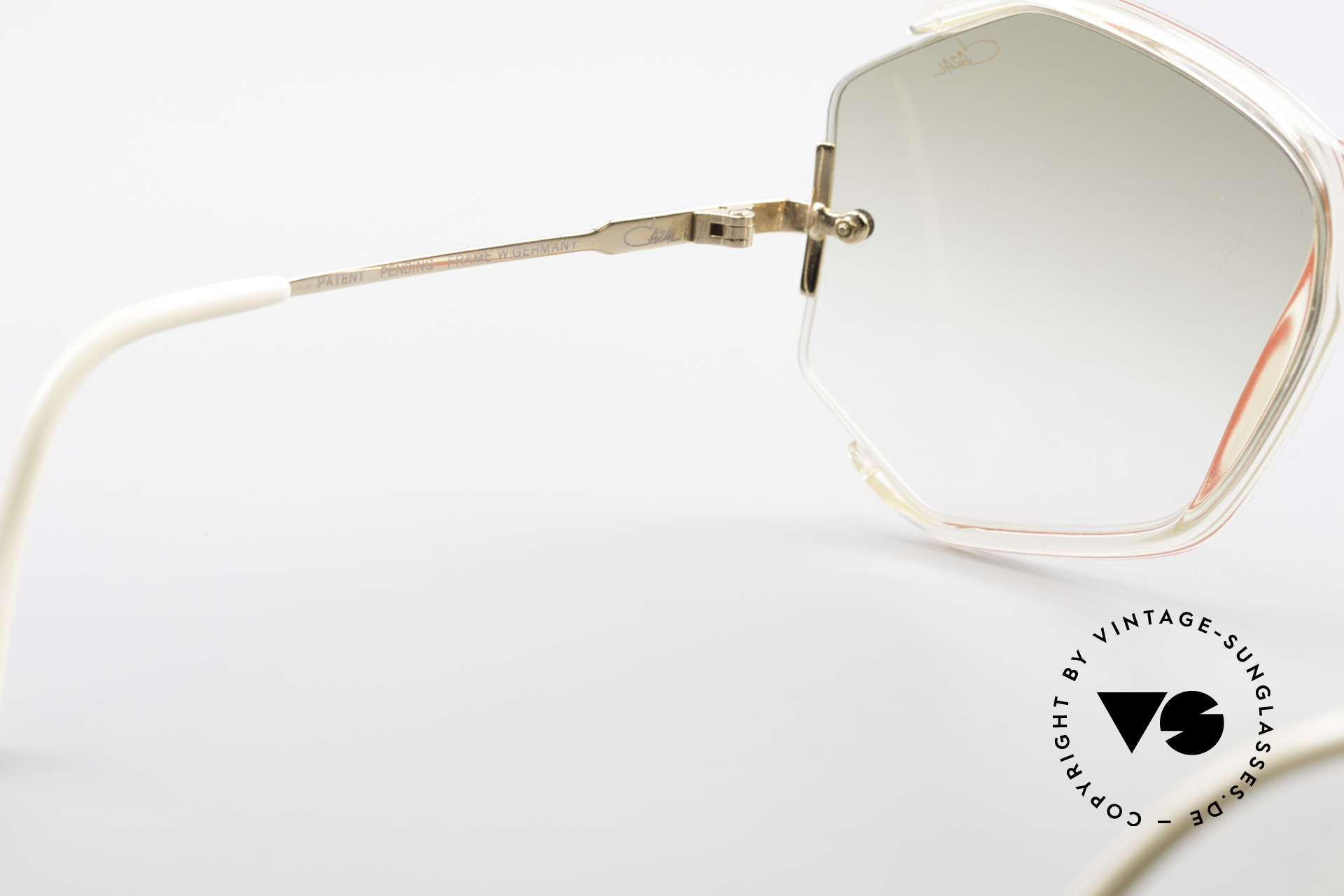 Cazal 852 Vintage 80's Sunglasses XXL, reduced to 399€ due to three TINY scratches on lens, Made for Women