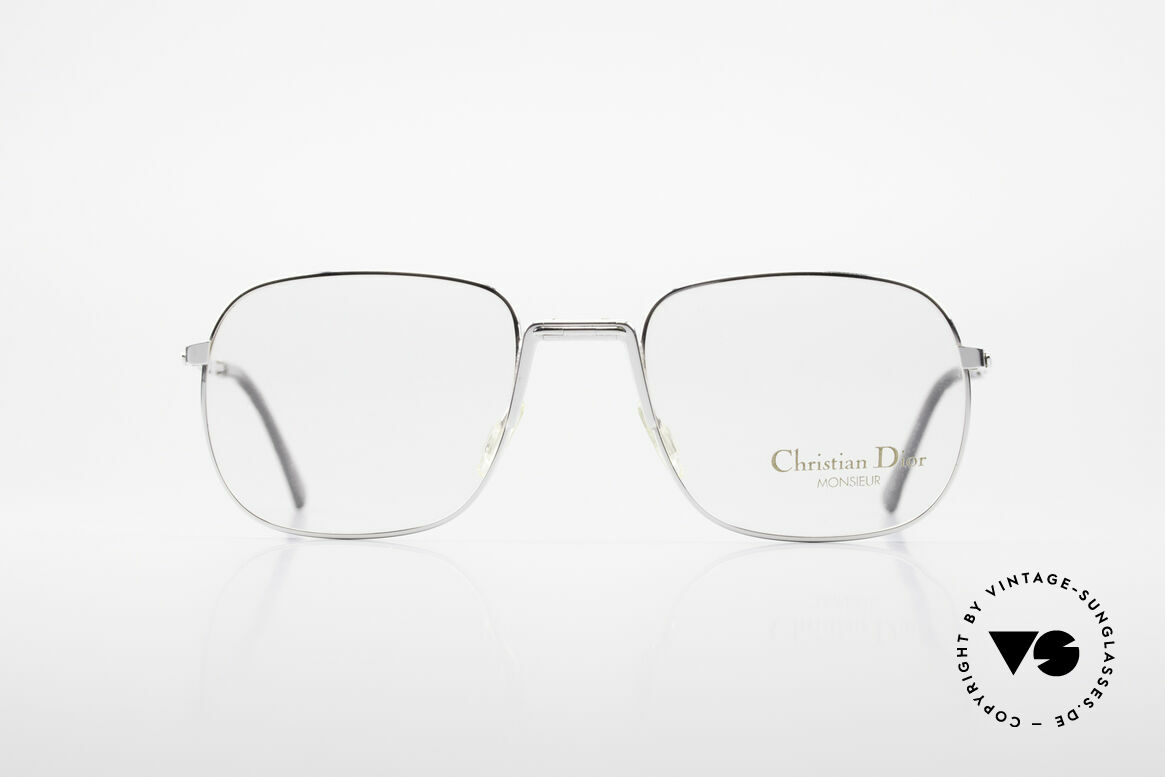 Christian Dior 2288 Folding Eyeglasses Monsieur, practical folding model in great quality: silver-plated, Made for Men