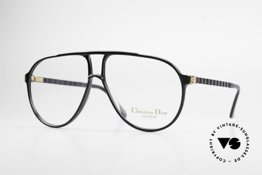 Christian Dior 2469 80's Monsieur Vintage Glasses Details