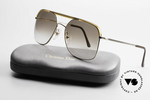Christian Dior 2247 80's Men's Shades Vintage, the brown sun lenses (100% UV) can be replaced optionally, Made for Men