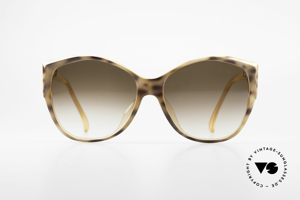 Christian Dior 2233 XL 80's Ladies Sunglasses, fascinating brown-marble paintwork on the front-side, Made for Women