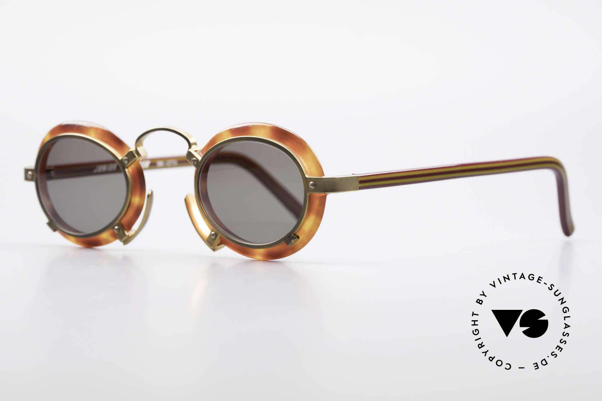 Jean Paul Gaultier 58-1273 Designer Sunglasses JPG 90's, great model from the JUNIOR GAULTIER series, Made for Men and Women