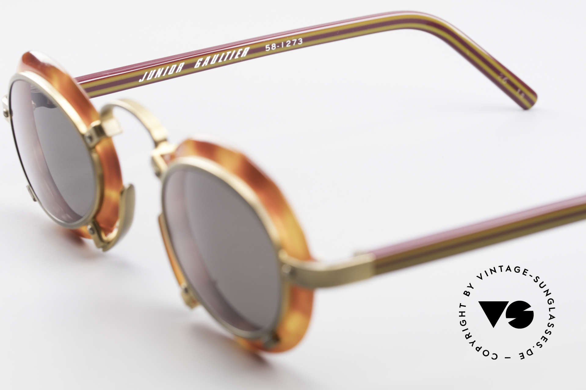 Jean Paul Gaultier 58-1273 Designer Sunglasses JPG 90's, true rarity in high-end quality (100% UV protect.), Made for Men and Women