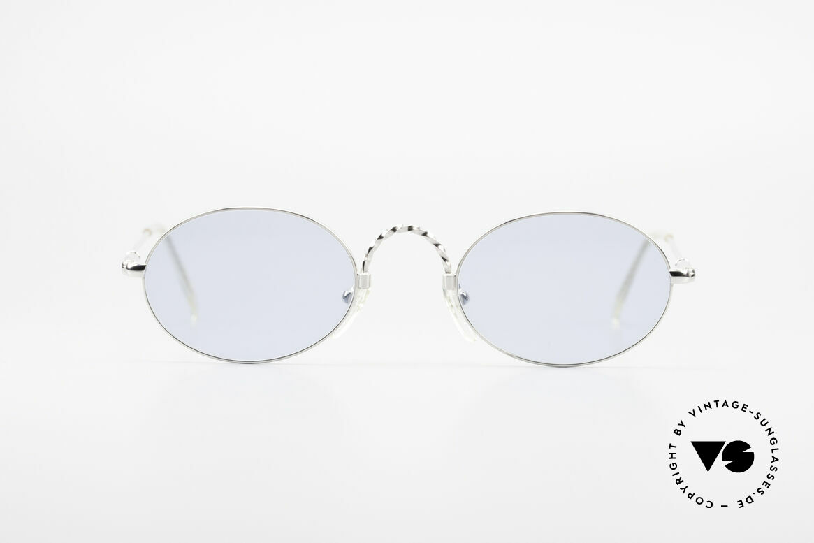 Jean Paul Gaultier 55-0175 Oval Vintage Sunglasses 90's, first-class sunglasses by Jean Paul Gaultier, JPG, Made for Men and Women