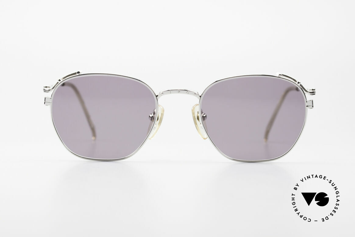 Jean Paul Gaultier 55-3173 Rare 90's Designer Sunglasses, ultra-light metal frame with many fancy details, Made for Men and Women
